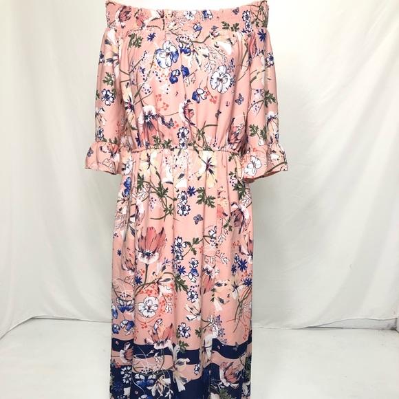Westport Dresses & Skirts - Women's Size 8 Pink Floral Print Midi Dress